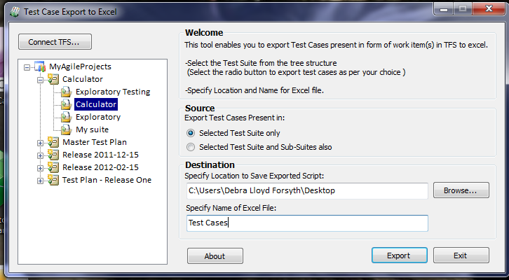 Microsoft Test Manager– Test Case export to excel tool